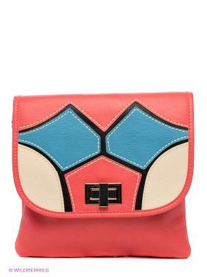 Сумка Mario Ponti. Цвет: коралловый, голубой, молочный