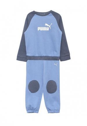 Костюм спортивный Puma. Цвет: голубой