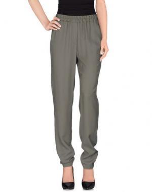 Повседневные брюки GIGUE. Цвет: зеленый-милитари