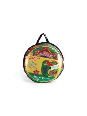 Детская игровая палатка Играем Вместе теремок. Цвет: зеленый, красный, желтый