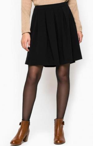 Короткая черная юбка Stefanel. Цвет: черный