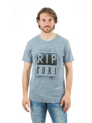 Футболка  OBVIOUS TEE Rip Curl. Цвет: серо-голубой