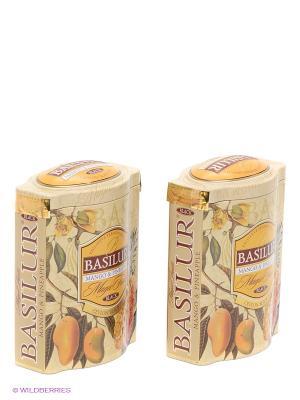 Чайный набор Basilur Волшебные фрукты Манго и ананас. Цвет: светло-бежевый, желтый