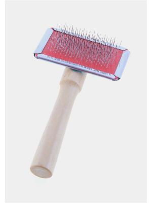 Пуходерка без капель, деревянная ручка, 6 х 12 см Радужки. Цвет: красный