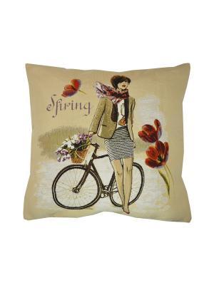 Подушка Леди Весна T&I. Цвет: бежевый