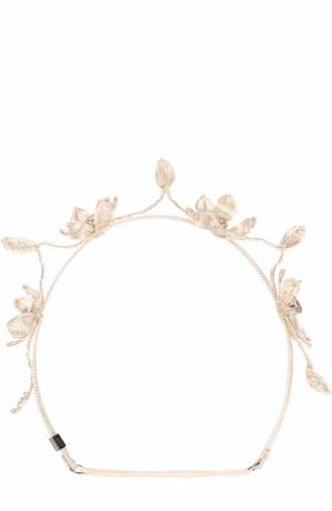 Повязка для волос с декором Colette Malouf. Цвет: серебряный