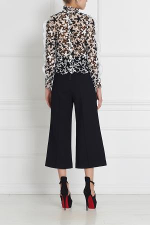 Блузка с вышивкой Self-Portrait. Цвет: черный, белый