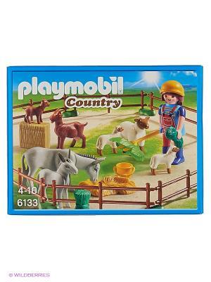 Ферма: Фермер с домашними животными Playmobil. Цвет: коричневый, серый