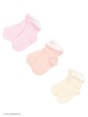 Носки - 3 пары Гамма. Цвет: персиковый, розовый