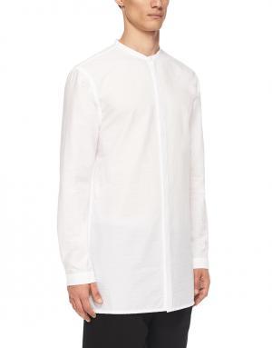 Хлопковая рубашка Helmut Lang. Цвет: белый