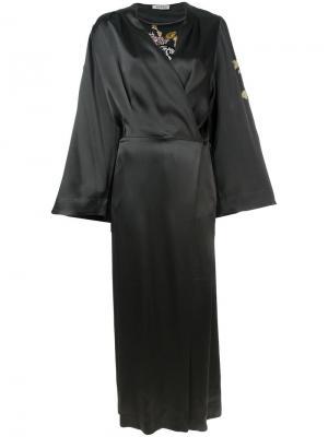 Платье-кимоно Attico. Цвет: серый