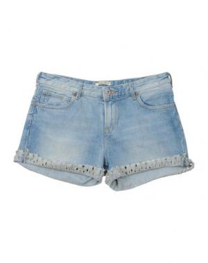 Джинсовые шорты SCOTCH R'BELLE. Цвет: синий