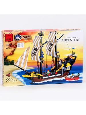 Конструктор Пираты с аксессуарами, 590 дет. ENLIGHTEN. Цвет: желтый, коричневый, красный, синий