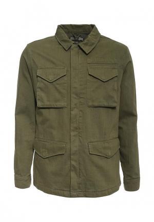 Куртка джинсовая Topman. Цвет: хаки