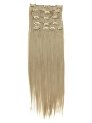 Накладные волосы, пряди на заколках-клипсах Lika VIP-PARIK. Цвет: светло-желтый