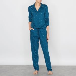 Пижама-комбинезон с рисунком LOVE JOSEPHINE. Цвет: рисунок темно-синий