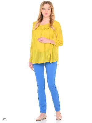 Блузка EUROMAMA. Цвет: салатовый