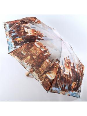 Зонт Zest. Цвет: лазурный, серо-коричневый