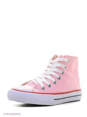 Кеды 4U. Цвет: розовый, белый