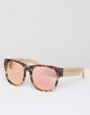 Matthew Williamson Квадратные черепаховые солнцезащитные очки с персиковыми стеклами Matt. Цвет: коричневый