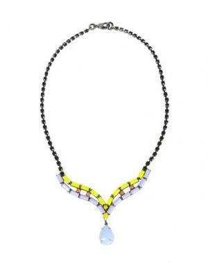 Ожерелье TOM BINNS. Цвет: сиреневый