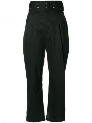 Укороченные брюки Sea. Цвет: чёрный