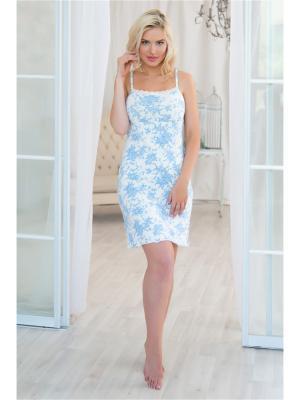 Ночная сорочка Mia Cara. Цвет: белый, голубой