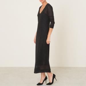 Платье длинное MABON MOMONI. Цвет: черный