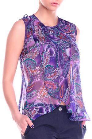 Блуза REBECCA TATTI. Цвет: в цветной принт