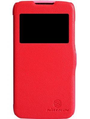 Чехол Nillkin Fresh Series Leather Case для Lenovo A516. Цвет: красный