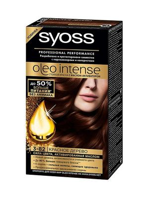 Краска для волос OLEO INTENSE 3-82 Красное дерево SYOSS. Цвет: молочный
