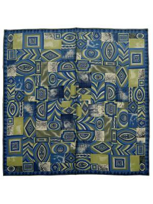 Платок Zalta. Цвет: синий, серый, салатовый, темно-синий