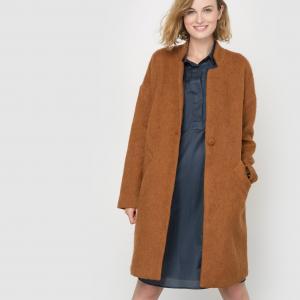 Пальто Metz средней длины AND LESS. Цвет: серый