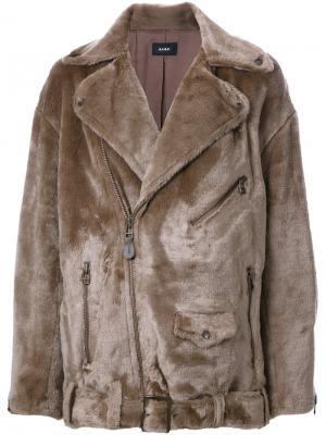 Байкерская куртка со шнуровкой G.V.G.V.. Цвет: коричневый