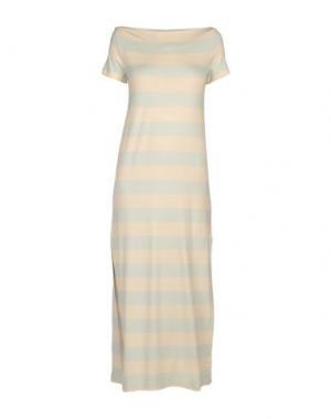 Длинное платье LA FABRIQUE. Цвет: светло-желтый