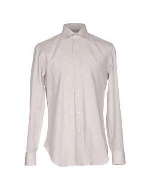 Pубашка BARBA NAPOLI. Цвет: бежевый