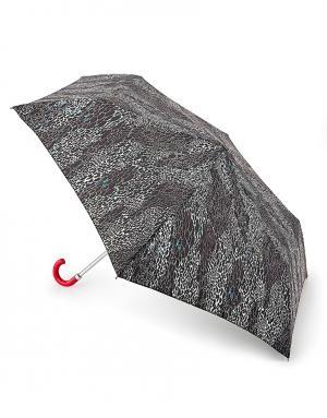 Зонт механический Змеиная кожа  by Fulton Lulu Guinness. Цвет: черный