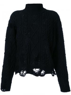 Вязаный свитер Maison Mihara Yasuhiro. Цвет: чёрный