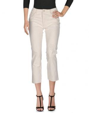 Джинсовые брюки MOTHER. Цвет: слоновая кость