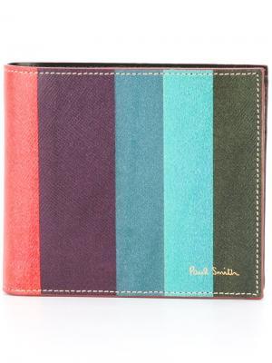Бумажник Artist Stripe Paul Smith. Цвет: розовый и фиолетовый