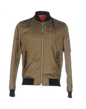 Куртка BRIAN DALES. Цвет: зеленый-милитари
