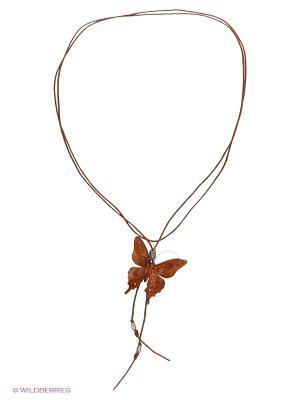Кулон-галстук Бабочка Мастер ГРиСС. Цвет: коричневый, оранжевый