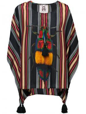 Блузка Katia Figue. Цвет: многоцветный