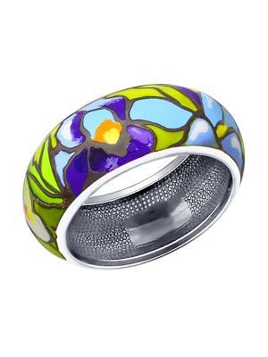 Кольцо SOKOLOV. Цвет: зеленый, серебристый, синий