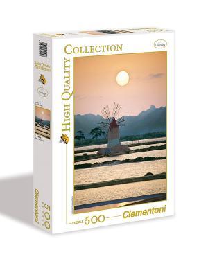 Clementoni. Италия,Трапани,Мельница в соляном поле. Clementoni. Цвет: белый, желтый, синий