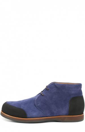 Замшевые ботинки с внутренней меховой отделкой Zonkey Boot. Цвет: синий