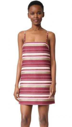 Свободное платье из жаккарда Karmic Zimmermann. Цвет: полоска