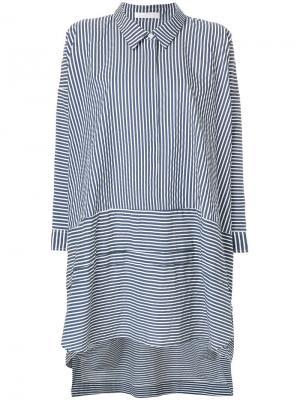 Свободное платье в полоску Peter Jensen. Цвет: синий