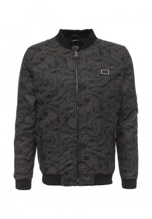 Куртка кожаная Born Rich. Цвет: черный