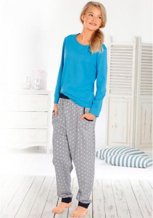 Пижама Arizona. Цвет: бирюзовый/белый
